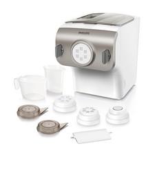 Philips HR2355 Pastamaker, Automatisches Mischen, Kneten und Ausgeben, 200 W, 4 Aufsätze