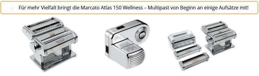 Marcato Wellness - Küchenprofi Multipast mit Nudelmaschinenaufsätzen