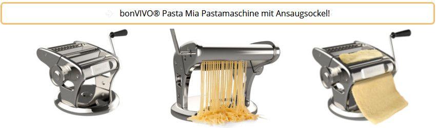 bonVIVIO Pasta Mia - Pastamaschine mit Ansaugsockel