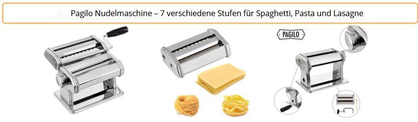 Pagilo Nudelmaschine - 7 Stufen für Spaghetti - Pasta und Lasagne